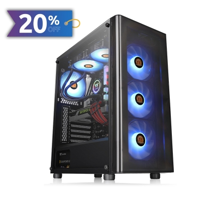 Gabinete TT V200 TG/Black/Window Tempered Glass*1 S/F (3230)