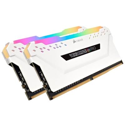 Memoria DDR4 Corsair 16Gb (2x8Gb) 3000MHz Vengeance RGB Pro White (8702)