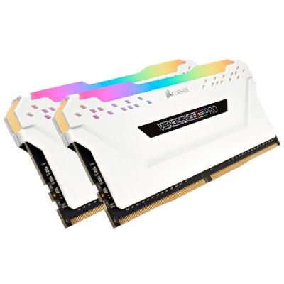 Memoria DDR4 Corsair 32Gb (2x16Gb) 2666MHz Vengeance RGB Pro White (2884)