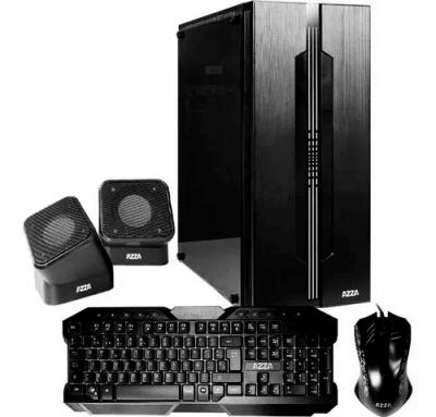 Gabinete Kit Gamer AZZA Fortaleza c/Fuente Mouse+Teclado+Parlantes