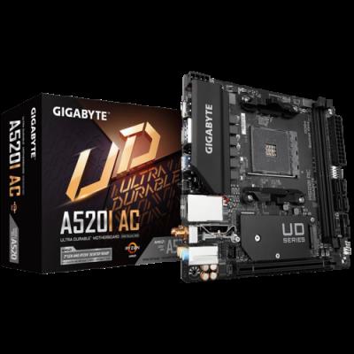 Mother GIGABYTE A520I AC ITX sAM4 DDR4 (solo Ryzen 3ra Gen) (9867)