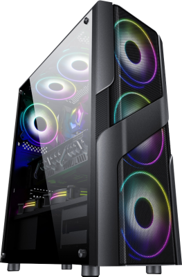 Gabinete Gamer LB-054 ATX TG Fan*3 + PSU 600W