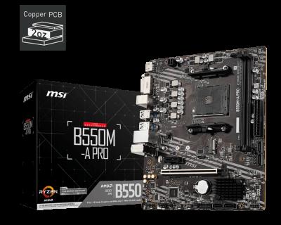 Mother MSI B550M-A PRO  sAM4 DDR4 (3ra y 5ta Gen) (2613)