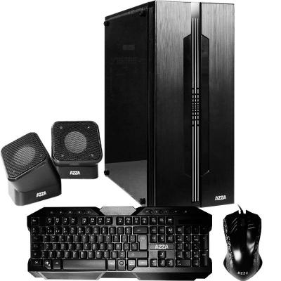 Gabinete Kit Gamer AZZA Fortaleza II c/Fuente 500W Mouse+Teclado+Parlantes