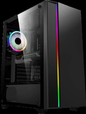 Gabinete Gamer HB-037 ATX TG Fan*1 + PSU 600W