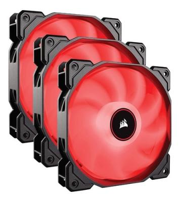 Fan Cooler Corsair AF120 LED Air Series  Red 120mm Fan Pack x3 (8807)