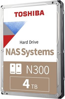 HD Toshiba 4TB N300 NAS  SATA  III
