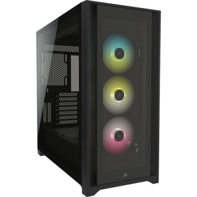 Gabinete Corsair iCUE  5000X RGB TG Mid-Tower ATX Black (7517)