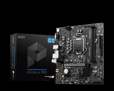 Mother MSI H510M-A PRO s1200 DDR4 (11va Gen) (2905)
